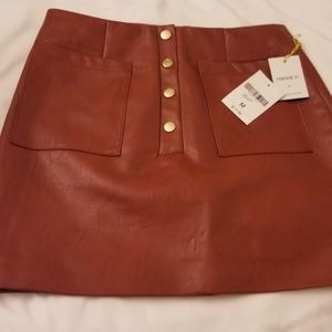 NWTS! Red leather skirt!